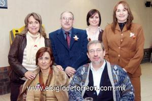 15122006  Mónica Rosell, Susana Iduñate y Richy González, en compañía de los maestros Dora Gómez Palacio, Carlos Villarreal y Francisco Amparán.