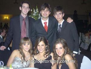 11122006 Luisa Parra, Marce González, Isabel Murra, Javier, Carlos y Willy Santorius.