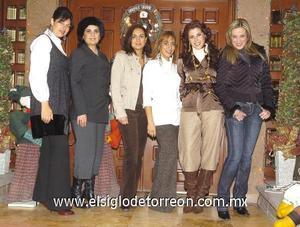 14122006 Susana Russek, Mayra Ochoa, Elisa Mena, Gaby Garza, Yerika Fisher y Marcia Lozano.