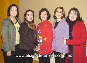 19122006 Clarita Humphrey, Chelito Treviño, Frida Ciprés, Meche Aguilar y Sary.