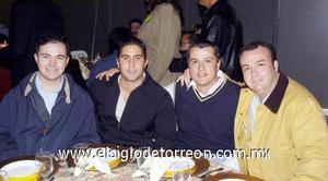 17122006 Luis Xavier González Díaz, Ricardo Fernández y Daniel González.