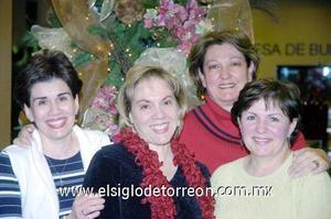 17122006  Rocío Ramírez, Odila Villarreal, Chelo González y Cristina Grajeda.