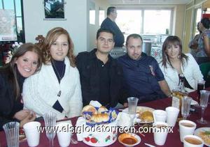 20122006 Ana Cristina Ayup, Alberto Rodríguez, Aldo Magallanes, Rocío Lechuga y Gloria Rodríguez.
