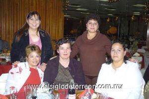 20122006 Candelaria Flores, Adriana Hoyos, Refugio Ortiz, Arcelia Robles y Guillermina Lozano.