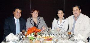 22122006  Ricardo Hamdan, Gaby Zuno de Hamdan, Verónica Echavarrieta de Arias y Eduardo Arias Anzures.