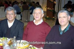 22122006  Rodolfo Luna Walss, Quintín Balderrama S.J. y Enrique Macías Gonzàlez.