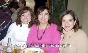 22122006  Sonia Cadena, Zaide Seáñez y Clara Guerra.