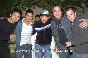 21122006 Aldo Hernández, Omar Pulido, Jorge Acero, Luis Ortiz y José Grageda.
