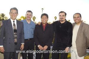 21122006 Alfredo Miranda, Óscar Rodríguez, Raúl Rodríguez, Eduardo Iduñate y Daniel Zavala.