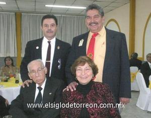 21122006 Mario Castrillón Morales, Samuel Morales, Beatriz García de Morales y Alfredo Ávila.