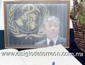 <b>Lee Jong-wook</b><p>  El director general de la Organización Mundial de la Salud (OMS), Lee Jong-wook, falleció el 22 de mayo en el Hospital Cantonal de Ginebra tras sufrir una embolia cerebral, confirmó la ministra de Sanidad de España, Elena Salgado.