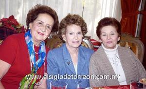 23122006   Maruca de Papadópulos, Delfina Hinojosa y Delia de Gurza