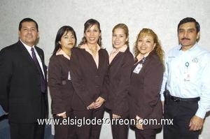 25122006 Rafael Romero, Patricia Rivera, Diana Gómez, Mónica Herrera, Concepción León y Evelio Hernández.