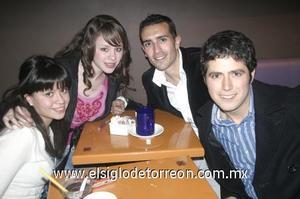 31122006 Antonio Michel, Jean Francois Blachard, Paulina Villarreal y Lorena Cerda.