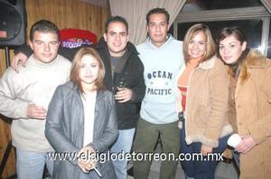 31122006 Karla López, Dulce Reyes, Marisael Olvera, Carlos Borjas, Lirio de los Mares y Manuel.