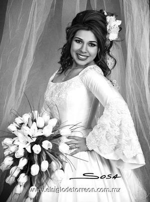 Lic. Nadia Karina Lumbreras Machado el dìa de su boda con el Lic. Ulises Martínez. <p><i> Estudio: Sosa</i>