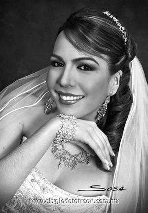 Lic. Yadira del Carmen Hernández Favila el día de su boda con el Lic. Omar Iglesias Flores.   <p><i> Estudio: Sosa</i>