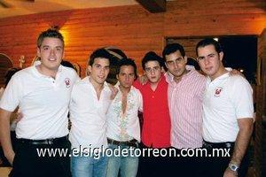 Beto Martínez, Moisés Camacho, Alejandro del Bosque, Diego y Juajo Fernández y Víctor Setién.