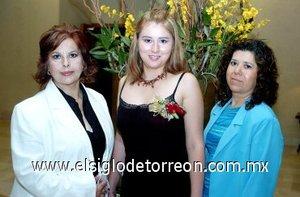 05082007 Rosario Muñoz de Marenco, Liliana Marenco Muñoz y Luz del Carmen Aguilar de Carrasco.