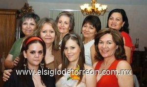 12082007 Margarita Chiffer Torres junto a Coyito de Pérez, Sonia de Pérez, Marissa de Garza, Maricarmen de Manzanera, Sara de la Garza, Margarita de Chiffer, Irasema Casas de Arriola y Amy Chiffer, en su despedida.