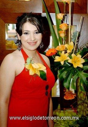 22082007 Laura Elena Flores Castillo, en su despedida de soltera.