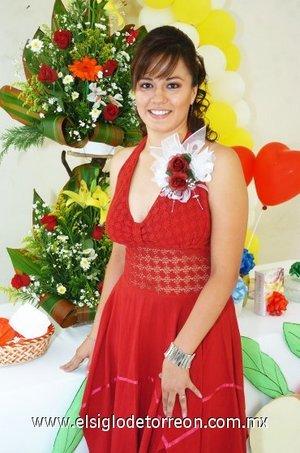 25082007 Norma Villanueva González, en su despedida de soltera con motivo de su próxima boda con Alejandro Martínez.