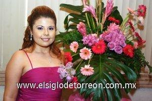 26082007 Ivonne Reyes Narváez, en la fiesta pre nupcial que le organizaron por su próximo enlace con Guillermo Cuevas.
