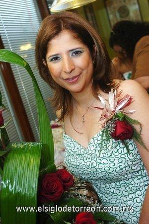 31082007 Claudia García Reynoso, el día de su fiesta de despedida.