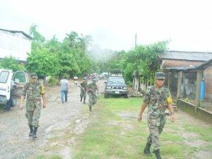 El Ejército y la Armada realizan acciones de rescate en las zonas afectadas por 'Henriette'.