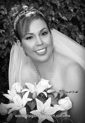 Srita. María del Rocío Saldaña Arámbula unió su vida en matrimonio a la del Sr. Ricardo Reyes Cervantes. <p> <i>Studio Sosa.</i>