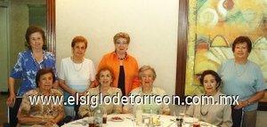 09092007 Dorita Gámiz, Raquel Lugo, Elia Zarzoza, Amelia Lugo, Dorita Cázares, Lety Dugay, Elena Ortueta y Tere Iglesias.