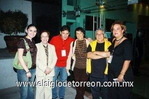02112007 Norma Hernández, María Elena Arenal, Gabriel Gutiérrez, Julia Meléndez, Jorge Méndez y More Barret.
