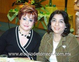 02112007 Rebeca Tobías de Mijares e Isabel Mijares de Zúñiga.