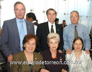 12112007 Julián y Lali Herrero; Nicolás y Susana Gil; Alejandro y Mela Larrea.