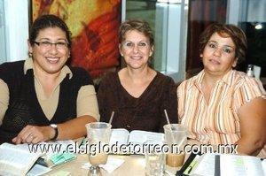 13112007 Beatriz de Gutiérrez, Lili de Delgado e Ivonne de De Alvarado.
