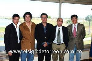 04112007 César, Alberto, Pedro, Carlos y Gabriel Madero.