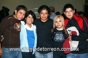 04112007 Edson Guerrero, Ileana Vela, Salvador Martínez, Karina Padilla y Juan Nava.