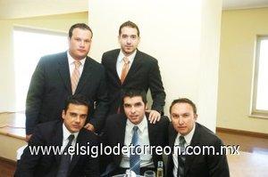 04112007 Paco Delgado, Adrián Aguilera, Ángel Ramos, Roberto Tueme e Iván Obeso.