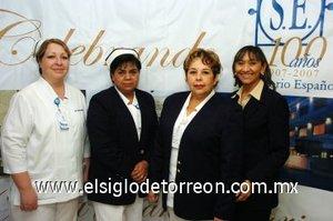 07112007 Luz Elena Martínez Almonte, María Ramírez Aguiñaga, Rebeca Hernández López y San Juana Amaya Chacón.