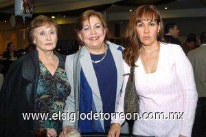 10112007 Alma Patricia de Tueme, Pilar Miñarro y Gloria Banda.