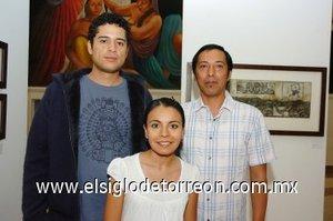 11112007 Alejandro Esquivel, Teresa Hernández y Héctor Bañuelos.