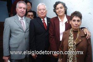 11112007 Pedro Luis Martín Bringas, Jesús Sotomayor Garza, Rosa María Franco y Catalina Leal Azpilcueta.