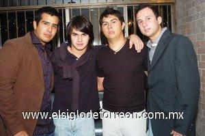 14112007 Buji Bracho, Cristopher Pollet, Marco Olvera y Chava Alvarado.