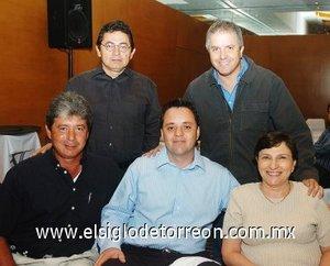 14112007 Guillermo Saldaña Wolff, Marco Pámanes Fernández, Malena Luengo, Armando Ríos Pérez y Roberto González Lobo.
