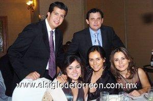15112007 Julia Montoya, Liliana Rodríguez, Luly Colores, Alberto de la Rosa y Adrián Méndez.
