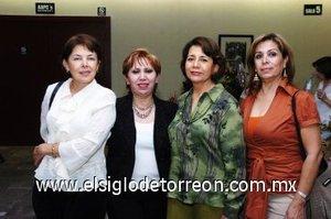 17112007 Silvia Garza, Lupita Flores, María Gutiérrez y Ofelia Ramos.