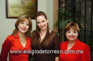 22112007 Mary Rojas de Bretado, Graciela León González y Graciela González de León.