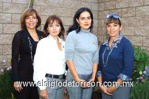 20102007 Angeles de Flores, Lety Garza de Herrera, Sandra de Sánchez y Karla Cuéllar de Alatorre.