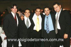 13112007 Selim Ramírez, Jean Paul Olhagaray, Ricardo Guerrero, Armando Vázquez y Moisés Escareño.