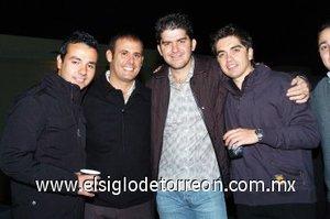 23112007 Julio Villalobos, Luis Fernando Salazar, Luis Pérez y Omar Mexsen.